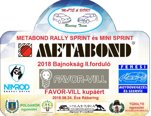 METABOND 2018 Bajnokság II. forduló – FAVOR-VILL Kupáért