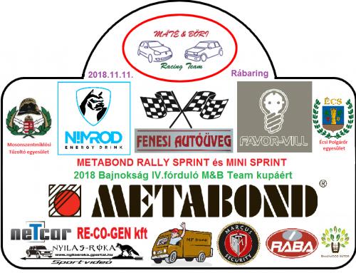 IV.METABOND Rally Sprint és Mini Sprint az M&B Kupáért 2018.11.11.