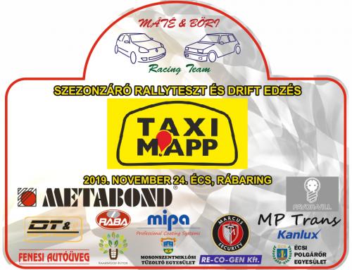 2019 Évadzáró Rally Tesztedzés és Drift edzés 2019.11.24. Écs, Rábaring