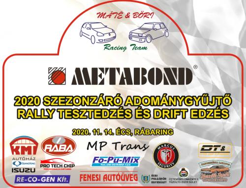 2020 Szezonzáró Adománygyűjtő Rally Tesztedzés és Drift Edzés 2020.11.14. Écs, Rábaring