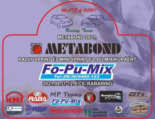 Fo-Pu-Mix kupa 2021.09.11-12.Écs, Rábaring